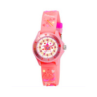 TIKKERS GLS PINK PRINCESS RUBBER STRAPWATCH