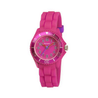 TIKKERS GLS HOT PINK RUBBER STRAPWATCH