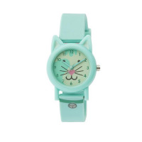 TIKKERS BABY BLUE CAT FACE STRAPWATCH