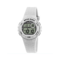 TIKKERS WHITE DIGITAL RUBBER STRAPWATCH