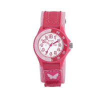 TIKKERS GLS BRIGHT PINK VELCRO WATCH