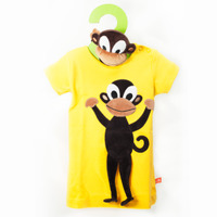 Short Sleeves Dress Yellow monkey + Monkey Toy