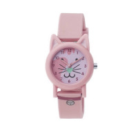 TIKKERS PINK CAT FACE STRAPWATCH