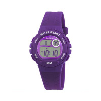 TIKKERS PURPLE DIGITAL STRAPWATCH