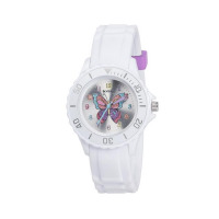 TIKKERS MULTICOLOR GLITTER BUTTERFLY WATCH